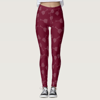 Tipsy Wine Glasses Leggings
