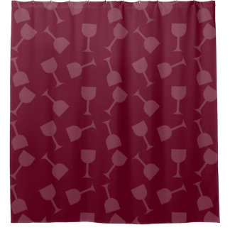 Tipsy Wine Glasses Shower Curtain