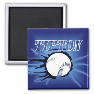 Tipton Baseball Square Magnet