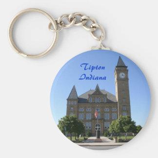 Tipton County  Courthouse - Customized Basic Round Button Key Ring