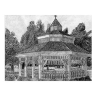 Tipton Park Gazebo in pencil Postcard