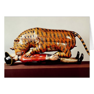 Tipu's Tiger, c.1790 (wood) Card