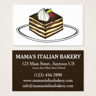 Tiramisu Dessert Italian Food Bakery Restaurant Business Card