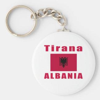 Tirana Albania capital designs Keychains