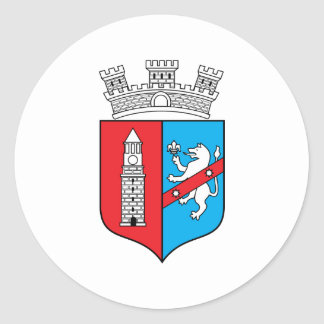 Tirana Coat Of Arms Classic Round Sticker