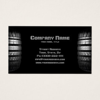 Tire Mounting & Balancing Service Business Card