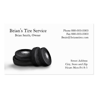 Tire Sales Business Card