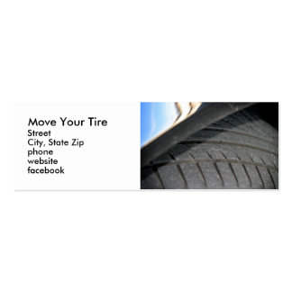 Tire Surface Pack Of Skinny Business Cards