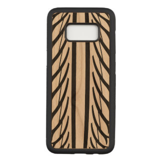 Tire Texture Abstract Pattern in Black and White Carved Samsung Galaxy S8 Case
