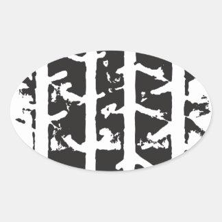 Tire Track Oval Sticker