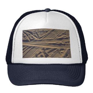Tire tracks hats
