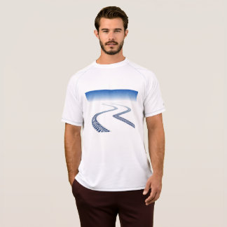 Tire Tracks In Snow Mens Active Tee