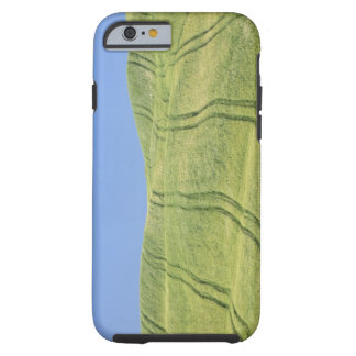 Tire Tracks in Wheat Field, Val d'Orcia, Siena Tough iPhone 6 Case