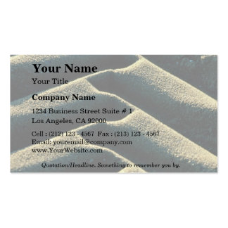 Tire tracks on beach business card template