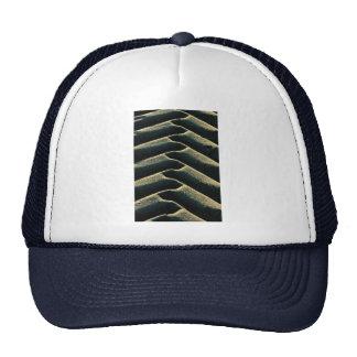 Tire tracks on beach hat