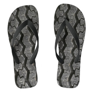 Tire Treads Funny Flip Flops Thongs