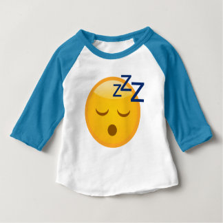 Tired Bedtime Emoji Baby T-Shirt