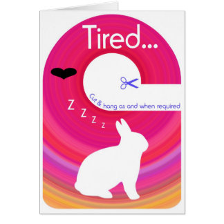 Tired Bunny!..Send a Gift Card Door Hanger