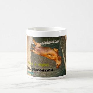 Tired Dachshund Basic White Mug