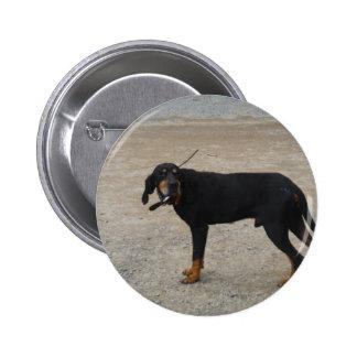 Tired Hunting Dog Pins