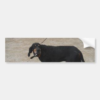 Tired Hunting Dog Bumper Sticker
