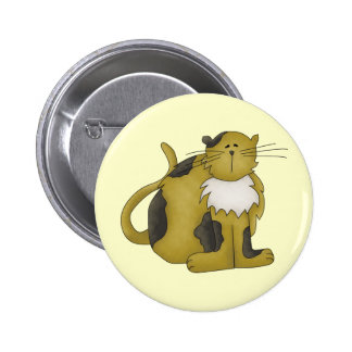 Tired Kitty Pinback Buttons