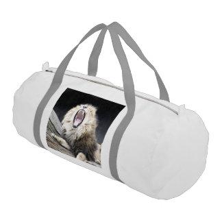 tired lion gym duffel bag