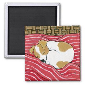 Tired Little Pup - Sleeping Dog Art Magnet
