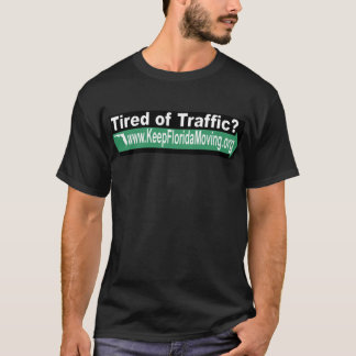 Tired of Traffic? - Green Arrow image T-Shirt
