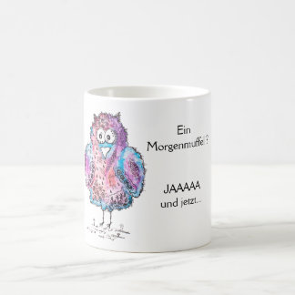 Tired owl coffee mug