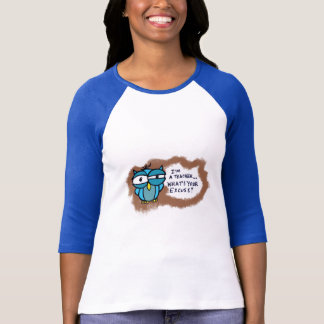 Tired Owl Teacher T-Shirt