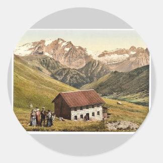Tirol, Marmolata vom Sellajoch, Aus. vintage Photo Sticker