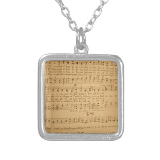 Tis So Sweet to Trust in Jesus Vintage Hymn Silver Plated Necklace