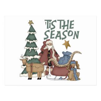 'Tis The Christmas Season Post Card