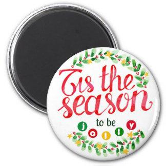 Tis the Season 6 Cm Round Magnet