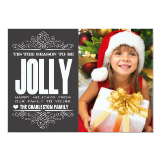 Tis The Season Christmas Holiday Family Photo Card 13 Cm X 18 Cm Invitation Card