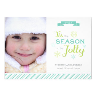 Tis The Season Christmas Photo Holiday Flat Card 13 Cm X 18 Cm Invitation Card