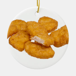 Tis the season for good nuggets round ceramic decoration