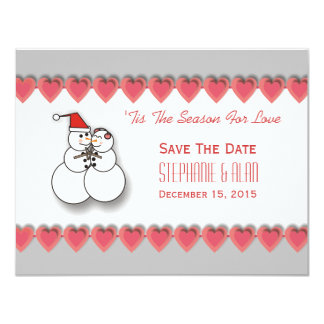 'Tis The Season For Love Save The Date Card 11 Cm X 14 Cm Invitation Card