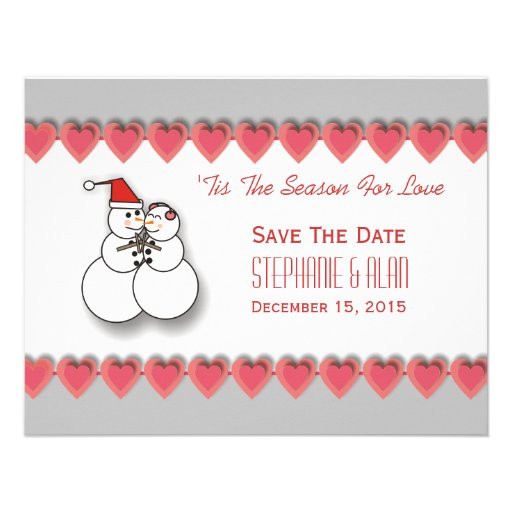 'Tis The Season For Love Save The Date Card Invitations