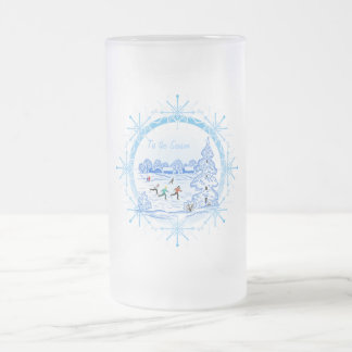 Tis the Season - Frosted Glass Mug