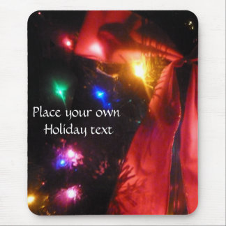tis the season lights and bow mousepad