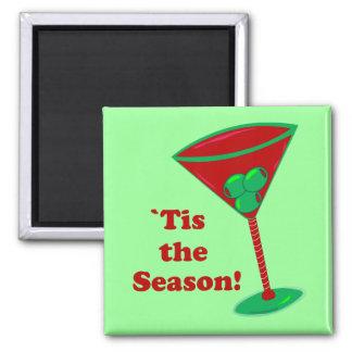 `Tis the Season Square Magnet