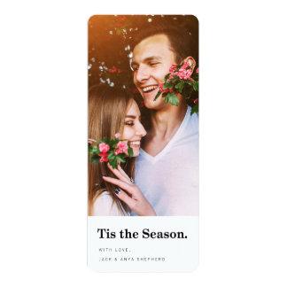 Tis the Season Modern Holiday Photo Card 10 Cm X 24 Cm Invitation Card