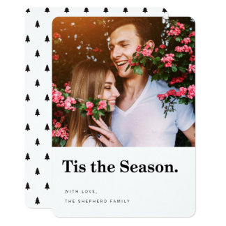 Tis the Season Modern Holiday Photo Card 13 Cm X 18 Cm Invitation Card