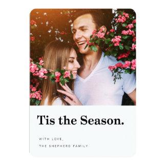 Tis the Season Modern Holiday Photo Card 13 Cm X 18 Cm Invitation Card