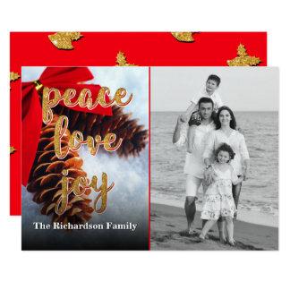 Tis The Season Personalized Christmas Card 13 Cm X 18 Cm Invitation Card