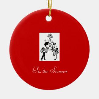 tis the season round ceramic decoration