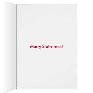 Tis the season! Sloth Christmas card