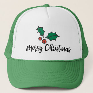 Tis the Season to Wear Holly Trucker Hat